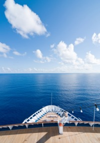 bow of cruise ship photo
