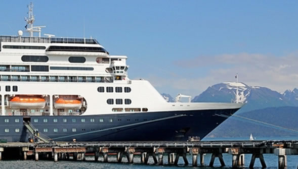 Alaska Cruise Line Docked photo