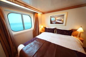 Cabin on cruise ship photo