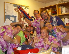 Cruise Ship Crew Having Fun photo